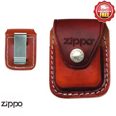 AU38 • Buy ZIPPO Brown Leather Pouch With Clip
