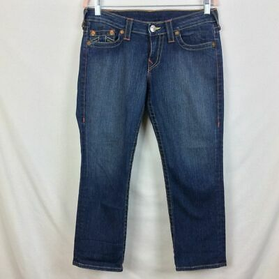 $44.99 • Buy True Religion World Tour Section Lizzy Cropped Jeans Dark Wash Womens Size 30