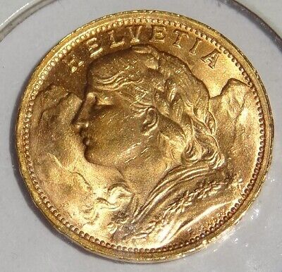 $315 • Buy 1935 LB 20 FRANC SWISS GOLD COIN Excellent Condition