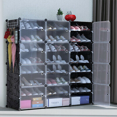 AU55.99 • Buy Clear Door Cube DIY Shoe Cabinet Rack Storage Portable Stackable Organiser Stand