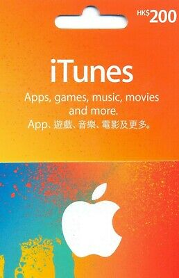 AU46.98 • Buy ITunes Card HKD 200 For Hong Kong Region Account