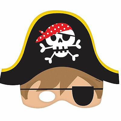 Amscan Childrens Pirate Party Masks Party Favour Fancy Dress 8 Pack Kids Party • 2.45£