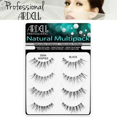 Ardell Professional False Eyelashes 4 Pairs Black Demi Wispies Multipack Pack • 10.99£