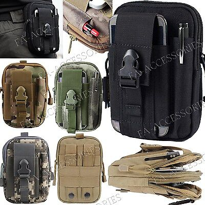 AU21.80 • Buy Military Army Style Sport Bag Case Belt Loop Hook Purse Pouch For Various Phones