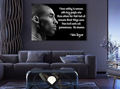 $32.19 • Buy Kobe Bryant Quote Black And White Sport Paints Canvas Print Art Decor Wall