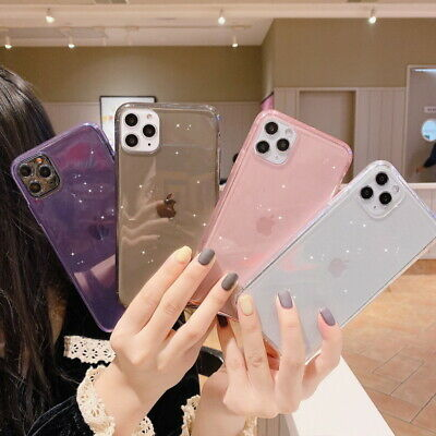 AU3.72 • Buy Glitter Bling Case Clear TPU Soft Cover For IPhone 12 11 Pro Max XS XR 8 7 Plus