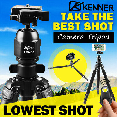 AU44.95 • Buy Kenner Professional Camera Tripod Stand DSLR Mount Phone Holder Remote Shutter