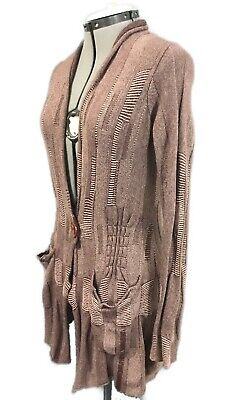 $ CDN46 • Buy SPARROW Anthropologie Cashmere Angora Cardigan Sweater S Small Wool Coat Shirt