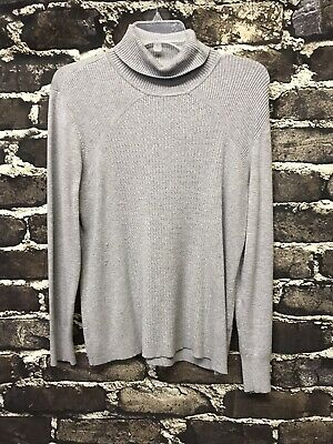 $9.99 • Buy Tribal Turtle Neck Cable Knit Sweater Size XL