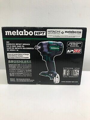 Metabo-HPT WR18DBDL2Q4M 18V Li-Ion Brushless 1/2  Impact Wrench (Tool Only) New • 101.74£
