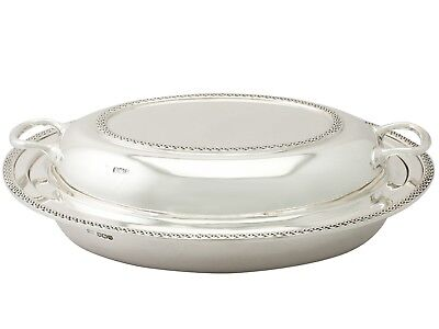 Antique George V Sterling Silver Entree Dish • 1,535£