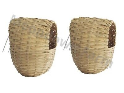 £7.25 • Buy 2 X Finch Nest Box Wicker Hooks To Back For Cage Exotic Finch Small Birds 9x11
