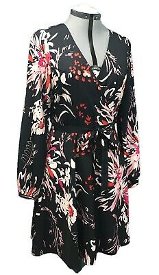 $ CDN92 • Buy $229 YUMI KIM Carla Fireworks Wrap Dress M Medium Mini Black Anthropologie New