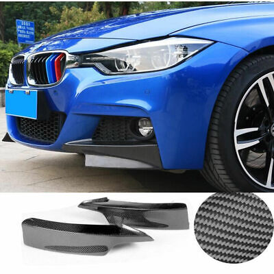 AU176.01 • Buy Carbon Fiber Front Bumper Splitter Lips For BMW F30 3 Series Sedan M-Tech 12-14