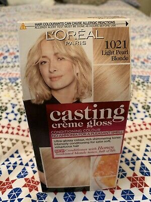 LOreal Casting Creme Gloss Semi Permanent Hair Colour Light Pearl Blonde 1021 • 4£