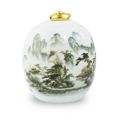 $49.49 • Buy Misty Mountains Ceramic Pet Cremation Urn For Ashes - Medium  White