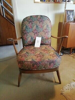Pair Ercol 206 Armchairs -  1960's - Assist Courier • 208£