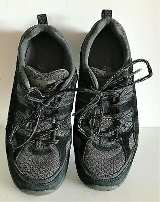 Ladies Women Clarks Wave Walk Collection Trainers Walking Shoes Size 4 Black  • 26£