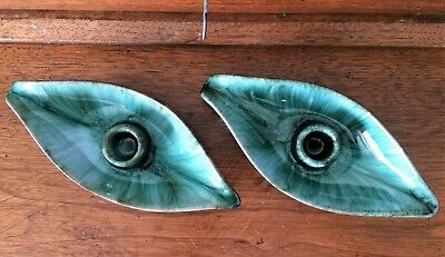 $ CDN6.95 • Buy Blue Mountain Pottery Canada ~ BMP ~ MCM Leaf Drip Candle Holders