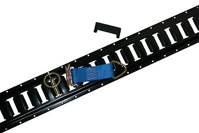 $158.99 • Buy 8 Pieces Of Black Painted E-Track With End Caps & Tie Offs For Interior Trailers
