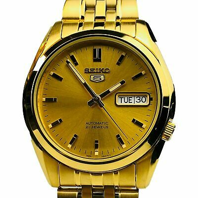 £129 • Buy Seiko 5 Automatic Gold Stainless Steel 38mm Case Men's Watch SNK366K1