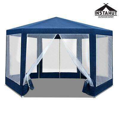 AU112.97 • Buy Instahut Gazebo Wedding Party Marquee Tent Canopy Outdoor Camping Gazebos Navy