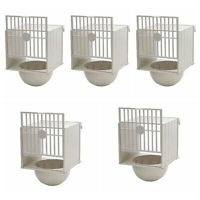 5 X Plastic Canary Nest Pans / Bird Nest Box For External Cage Fixing • 16.95£