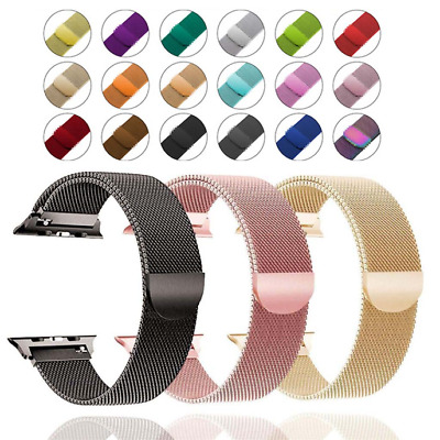 $ CDN8.94 • Buy For Apple Watch Series 5 4 3 2 1 Milanese Stainless Steel IWatch Band Loop Strap