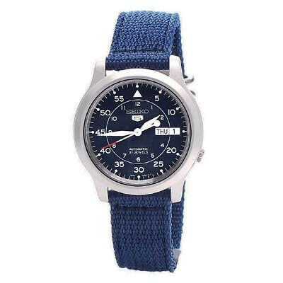 £109 • Buy Seiko 5 Automatic Military Style Blue 37mm Case Men's Watch SNK807K2