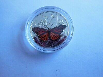 $16.44 • Buy 2005 Canada 50 Cent Sterling Silver Monarch Butterfly Coin!
