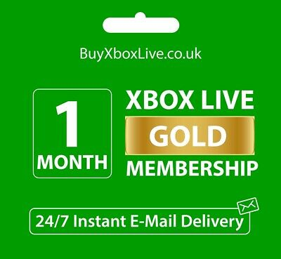 $ CDN13.84 • Buy 1 MONTH GOLD - Xbox Live Membership Pass - Instant Delivery - Xbox One, Xbox 360