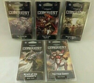 AU38.60 • Buy 5 Warhammer 40,000 Conquest War Packs Cards Threat Beyond Wrath Crusaders 40k ++