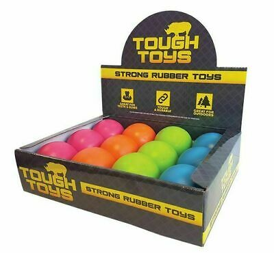 Happy Pet Rubber Ball Dog Toys Tough Solid Extreme Strong Durable 4 Sizes • 4.99£