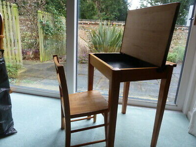 School Desk And Chair Retro Believed 1950's Good Condition. • 25£