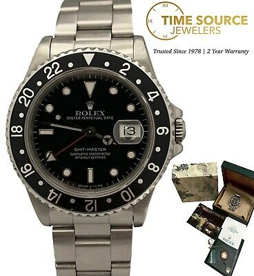 $ CDN14425.17 • Buy Rolex GMT Master Automatic Stainless Steel 40mm Black 16700 1991 B&P Watch