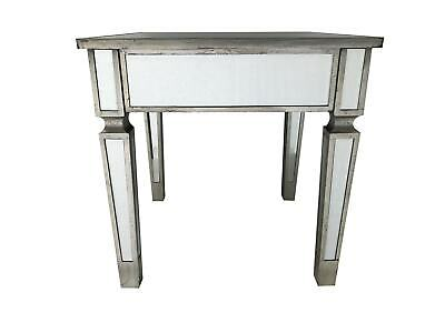 Mirrored End Table Square Furniture Home Decor Venetian Bedside Bedroom Glass • 179.50£