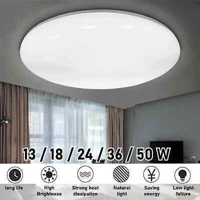 £12.99 • Buy LED Ceiling Light Round Panel Down Lights Bathroom Kitchen Living Room Wall Lamp
