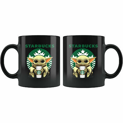 $12.99 • Buy Starbucks Baby Yoda Star Wars Cute Yoda STARBUCKS Fun Black Coffee Mug Gift11-15
