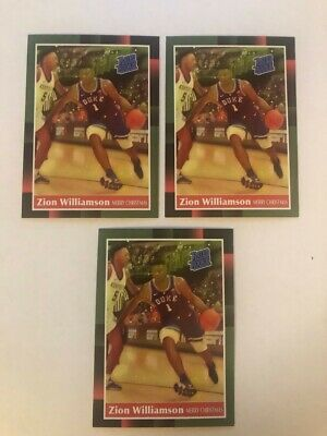 $3.99 • Buy Zion Williamson 1988 Donruss Rated Rookie Style Duke Merry Christmas 3-card Lot