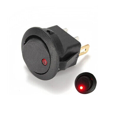 $ CDN1.31 • Buy 1pc RED Car 12V Round Rocker Boat LED Light Toggle SPST ON/OFF Switch 2 Pins