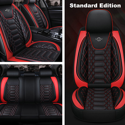 $ CDN169.67 • Buy 5-Seats Universal Luxury Car Seat Cover Full Set Front&Rear Seat Back Protector