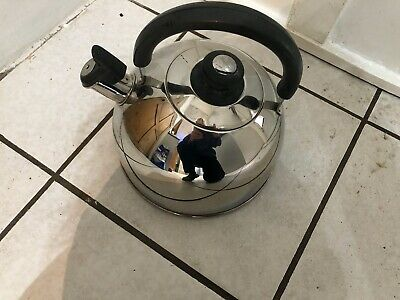 Prestige Stove Top Kettle Whistle Stainless Steel Used May Suit Use On AGA • 7.99£