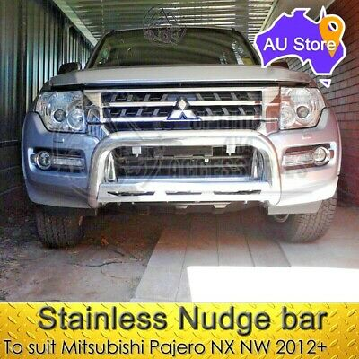 AU295 • Buy Stainless Steel Nudge Bar To Suit Mitsubishi Pajero NX NW 2012-2019