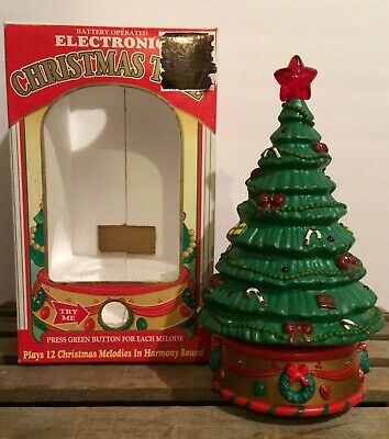 $ CDN23.78 • Buy Vtg Electronic Musical/Lighted Christmas Tree W/Orig Box 12 Melodies-Working!