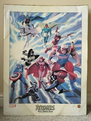 Avengers Earth's Mightiest Heroes 2002 Lithograph Alex Ross Art Marvel Comics • 25£