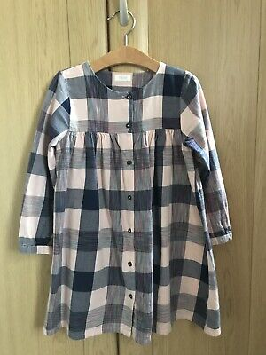 Next Girls Checked Dress Pink And Blue Age 4-5 Years • 2£