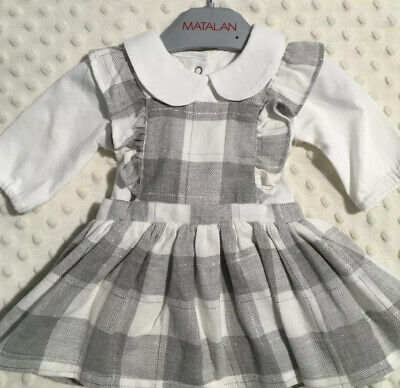 Matalan Baby Girls Checked 2 Piece Dress Outfit Tiny Baby New • 5£
