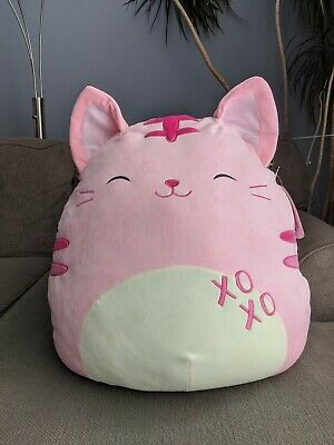 $ CDN72 • Buy Squishmallows XL 22  Valentines Canadian Exclusive Paulita The Pink Cat Kellytoy