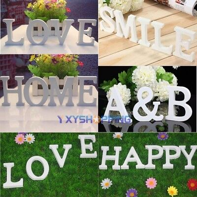 £1.99 • Buy Free Standing Wood Letters Alphabet Wooden Wedding Party White Decoration Gift