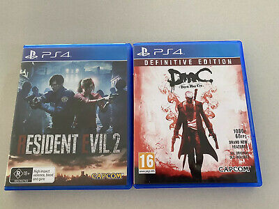 AU11.50 • Buy PS4 Resident Evil 2 & Devil May Cry Definitive Games PlayStation 4 Lot Bundle